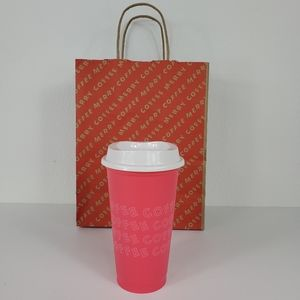 Starbucks 'COFFEE' Hot Pink Grande 16oz Hot Cup